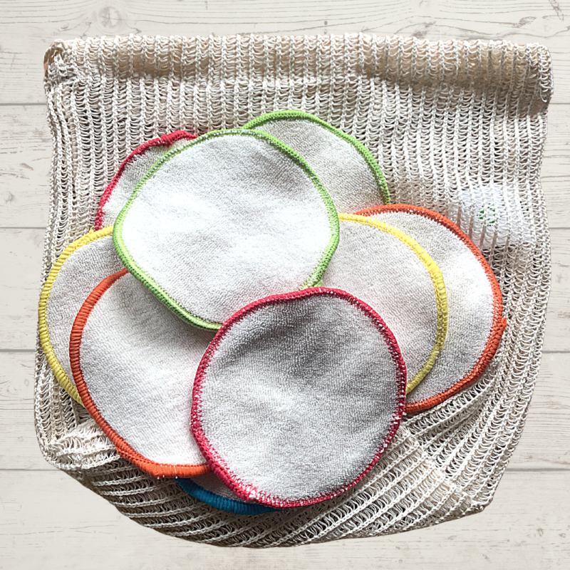 Eco Living Reusable Face Wipes with Wash Bag