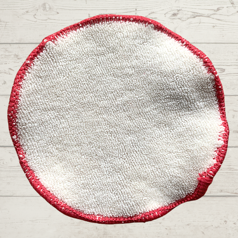 Eco Living Reusable Face Wipe Red