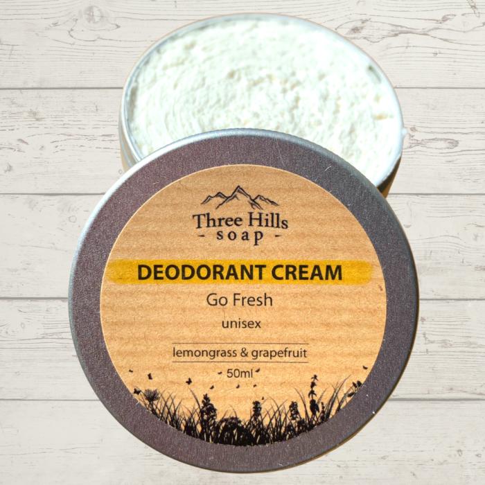Three Hills Deodorant Cream Go Fresh