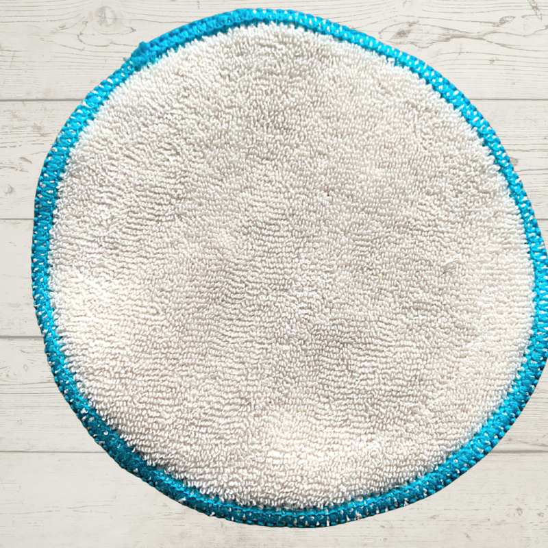 Eco Living Reusable Face Wipes Blue