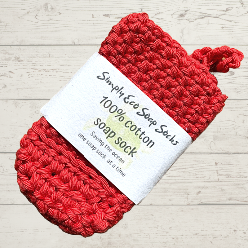 Simply Eco Soap Socks Red Cotton